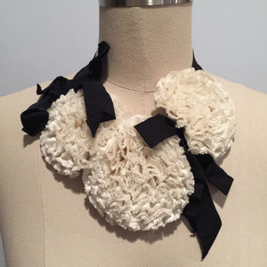 Kate spade live colorfully silk flower collar